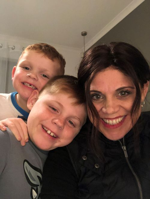 """Sons Jye, 5 and Levi, 10, were Sam's first thought when she was given the news. """"My first thoughts were that I'm not going to see my boys grow up."""""""