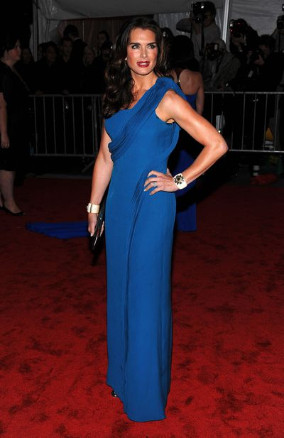Brooke Shields at the 2009 Met Gala in New York.