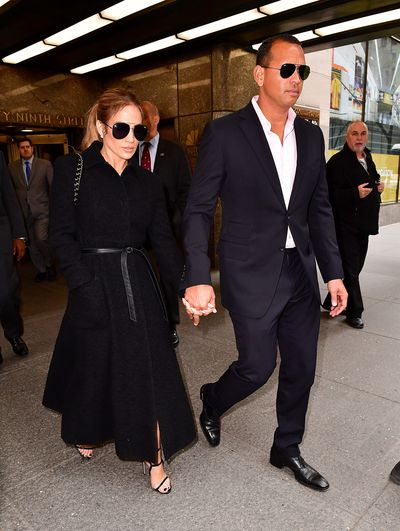 Jennifer Lopez and Alex Rodriguez at New York City's Rockefeller Center, April  2017