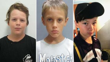 The three boys have been reported as missing since yesterday afternoon. (Queensland Police)