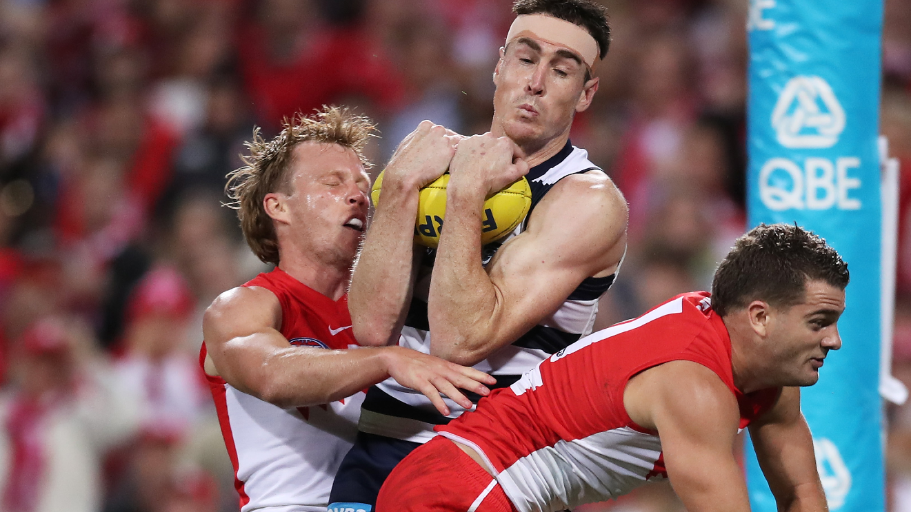 AFL great Leigh Montagna calls for captain's challenge after Jeremy Cameron incident
