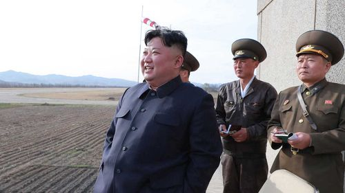 North Korea's Kim Jong-un at a weapons test.
