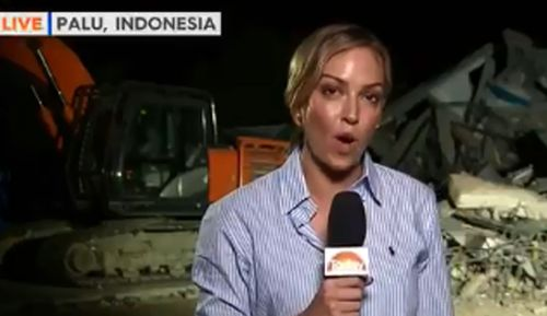 Reporter Sophie Walsh in earthquake and tsunami devastated Indonesia.