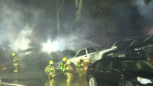 Firefighters worked through the night to extinguish the blaze.