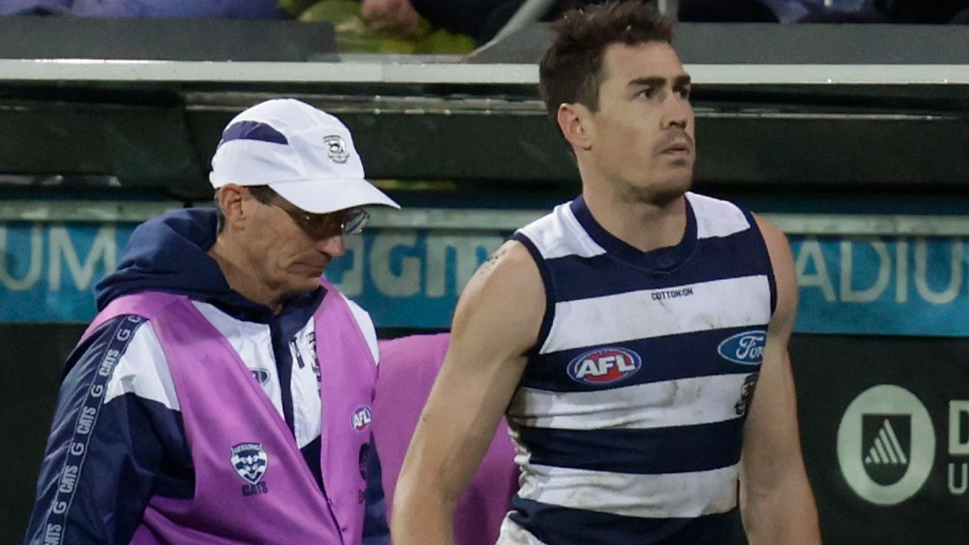 Boom Geelong recruit Jeremy Cameron hit with crushing injury news following hamstring tear