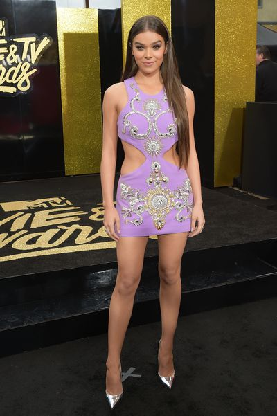 Singer Hailee Steinfeld in Fausto Puglisi at the 2017 MTV Movie & TV Awards in Los Angeles