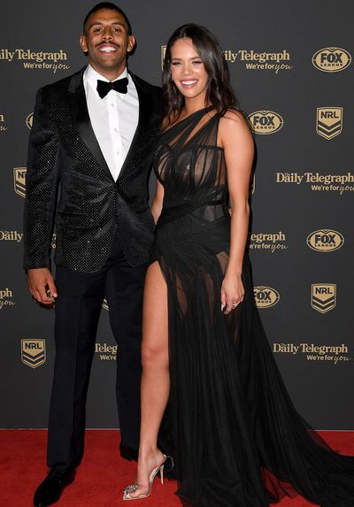 Josh Addo-Carr and Lakaree Smith at the 2019 Dally M Medal