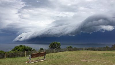 Storm clouds viewed from Dover Heights. (Supplied, Amelia Holland)