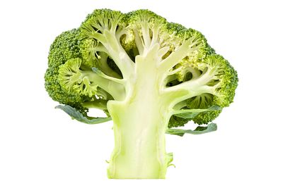 Half a broccoli bunch is 100 calories