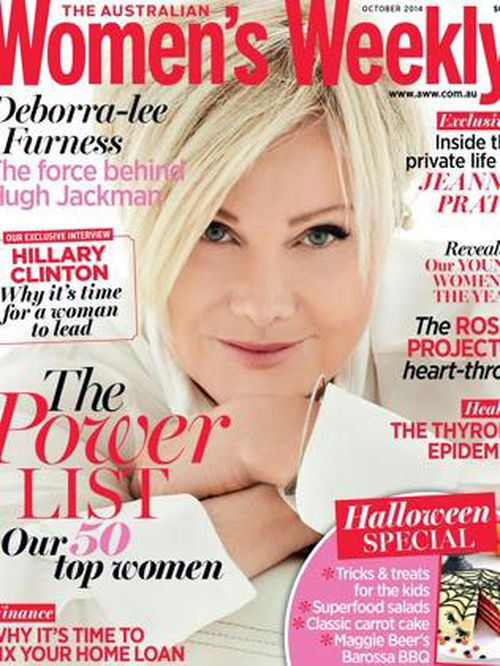 Deborra-Lee Furness came in tenth features on the October 2014 issue. (The Australian Women's Weekly)