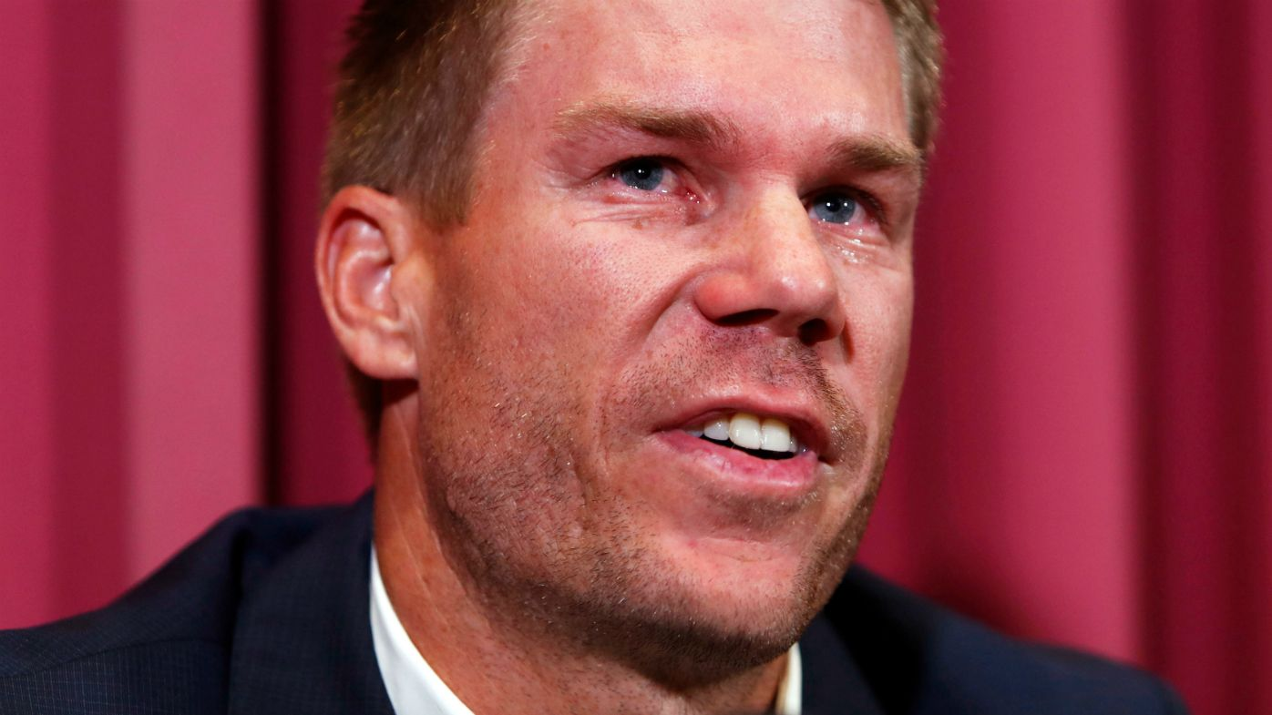 David Warner speaks