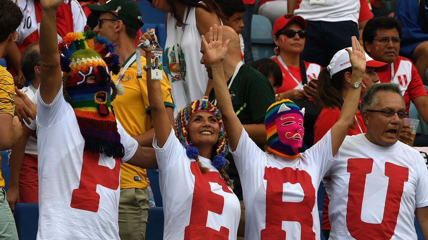 Socceroos fans slammed for 'disgusting' racist taunts in World Cup loss to Peru