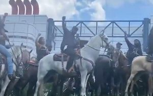 Black horsemen and women ride in Houston for George Floyd protest march