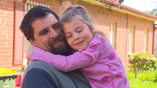 Jessica with her relieved dad Matt.
