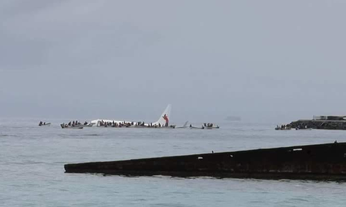 A plane has overshot the runway in Micronesia this morning.
