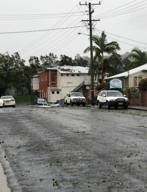 Hail and wild winds battered the northern NSW towns.