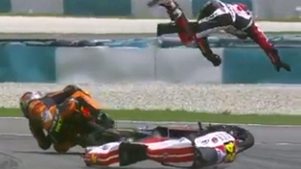Motorsport: Tatsuki Suzuki sent flying after spectacular crash