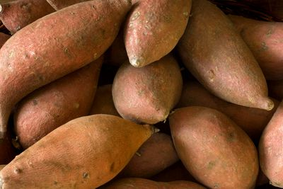 Baked sweet potato with the skin: 475mg potassium per 100g (1 medium potato)