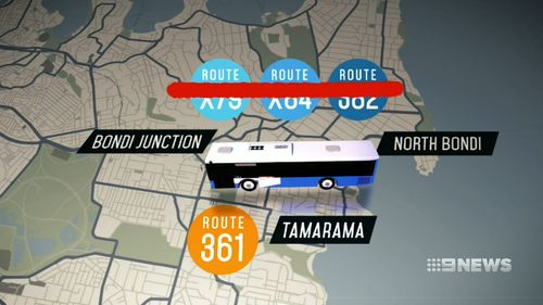 Three routes that operate to Bondi Junction will be cancelled.
