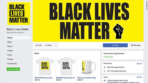 The Facebook page had almost 700,000 followers - more than the official Black Lives Matter page. (Facebook)