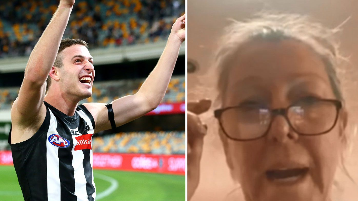 'Just a quick durry': Debutant's mum reveals why she accidentally missed Trey Ruscoe's first AFL goal