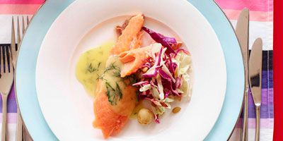 Swedish-style salmon with dill sauce