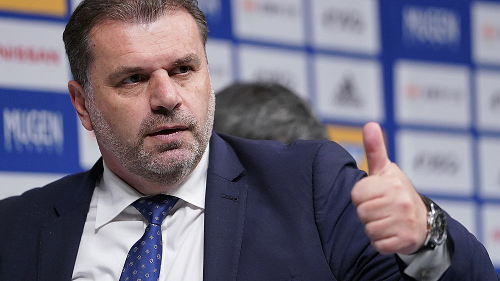 Football: Ange Postecoglou introduced as Yokohama coach in J-League