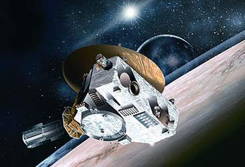 Illustration of the New Horizons mission to Pluto (Getty)