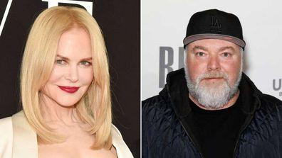 Nicole Kidman cringed after Kyle Sandilands' line of questioning.