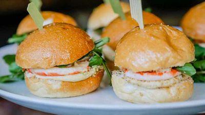 "Recipe:<a href=""http://kitchen.nine.com.au/2016/10/13/13/01/manu-feildels-prawn-and-hommus-milk-buns-with-lime-and-sesame-dukkah"" target=""_top"">Manu Feildel's prawn and hommus milk buns with lime and sesame dukkah</a>"