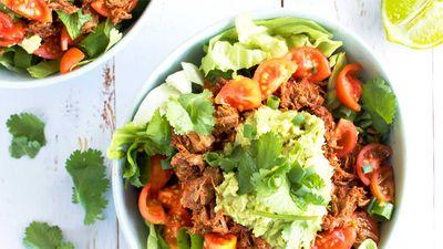 "Recipe: <a href="" http://kitchen.nine.com.au/2017/09/21/16/33/live-love-nourish-beef-burrito-bowl"" target=""_top"">Live Love Nourish's beef burrito bowl</a><br /> <br /> More: <a href=""http://kitchen.nine.com.au/2016/06/06/21/24/healthy-mexican-recipes"" target=""_top"">healthy Mexican recipes</a>"