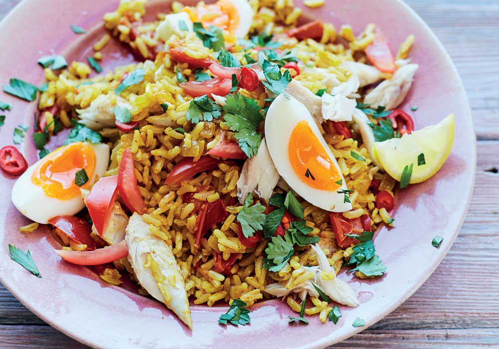 Mood-boosting kedgeree recipe by Rachel Kelly