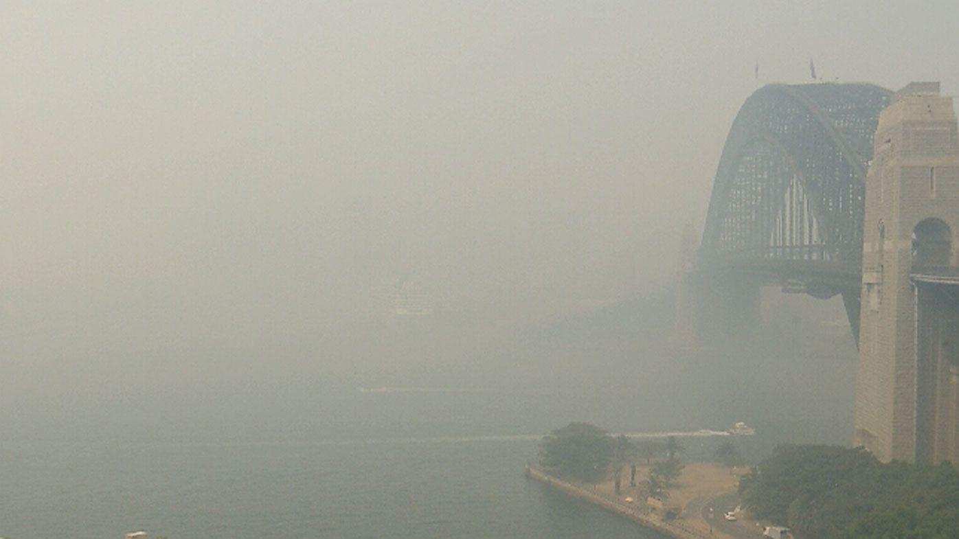 Sydney Harbour ferries suspended as bushfire smoke shrouds NSW