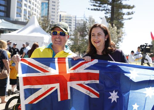 Queensland Premier Annastacia Palaszczuk has blasted the Commonwealth Games organisers for the closing ceremony. (AAP)
