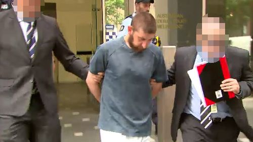 Ertunc Eriklioglu, 30, outside the Melbourne Magistrates' Court this afternoon. The Dallas man is the brother of second suspect, Samed Erikloiglu.