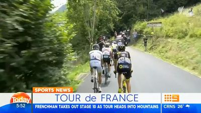 Mountain bike rider steals the show at Tour de France