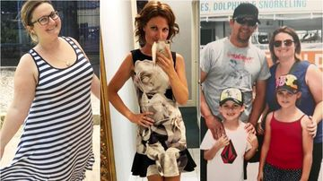 Overweight mum drops 50kg to save her husband's life