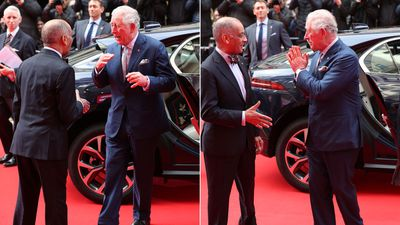 Prince Charles avoids shaking hands at The Prince's Trust Awards, March 2020
