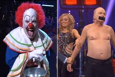 "<i>Dancing With The Stars</i> viewers will never be the same again after former <i>Australian Idol</i> judge Mark Holden went too far into character dressed as a creepy clown.<br/><br/>After a wild rant taking shots at the judges and the Seven Network, everyone was wondering if Mark was drunk or high... but the 60-year-old told TheFIX it was all ""method acting"" and he ""was into a Heath Ledger moment"". He was booted the next week after a similarly bizarre routine (un)dressed as Vladimir Putin."