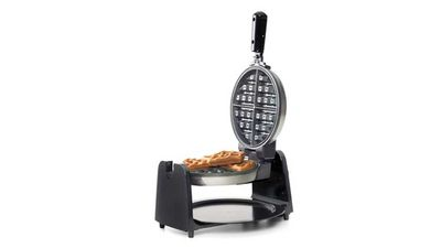 "<p>Your dad a perfect waffles for breakfast kind of guy? Then let him really shine with this rotating waffle iron that spreads the batter evenly every time.</p> <p>- <a href=""http://www.kmart.com.au/product/waffle-maker/911989"" target=""_top"">Waffle Maker</a>, $29 from Kmart</p>"
