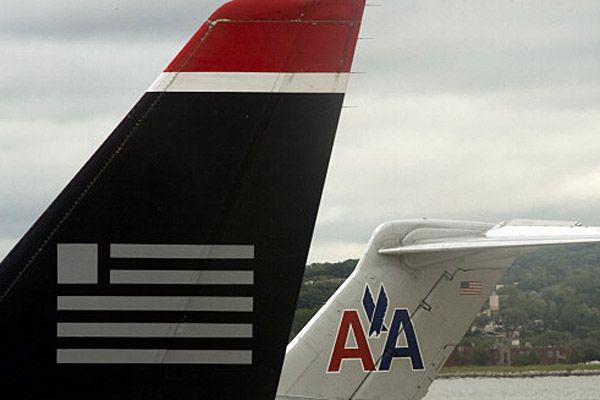 American Airlines, US Airways planes