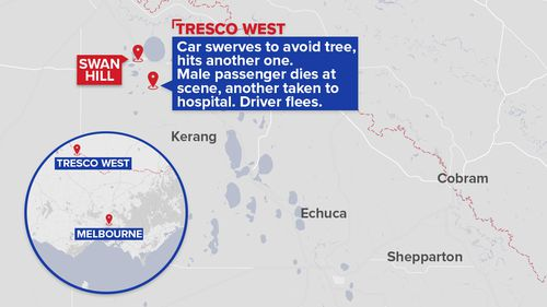 Driver leaves passengers for dead after crashing