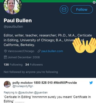 Paul's profile