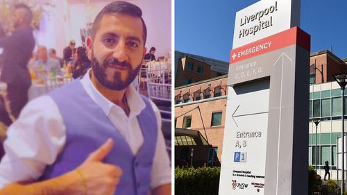 Aude Al-Askar, 27, died from coronavirus. His wife, who also has the virus, was rushed to Liverpool Hospital.