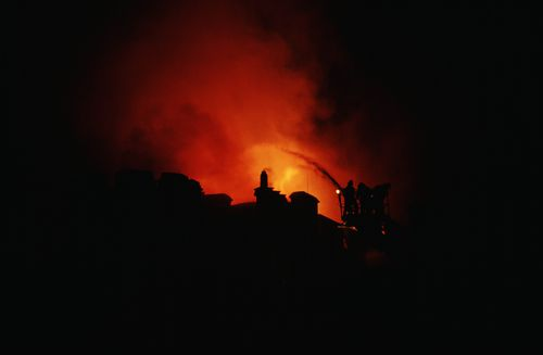 It was 2am before 225 firefighters managed to put the blaze out. Picture: Getty