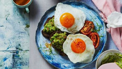 "Recipe: <a href=""http://kitchen.nine.com.au/2017/02/16/07/35/fried-eggs-with-spiced-avocado"" target=""_top"">Fried eggs with spiced avocado</a>"