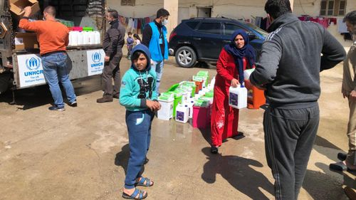 UNHCR protective and hygiene equipment distribution