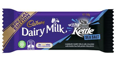 Cadbury unveils chocolate with Kettle Chips and CC's