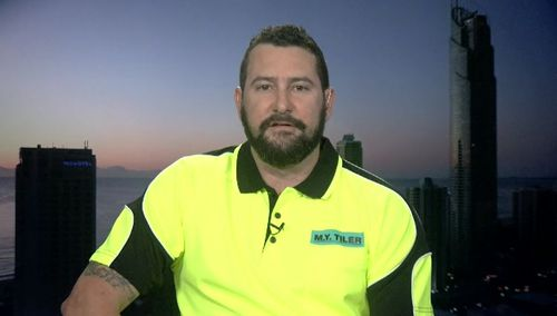 Matthew Young claimed One Nation candidate Matthew Stephen owed tens of thousands of dollars to tradies. Picture: 9NEWS