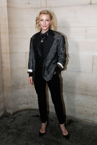 Cate Blanchett attends the Louis Vuitton show as part of the Paris Fashion Week